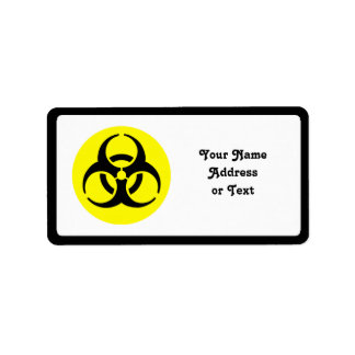 Símbolo del BioHazard Etiquetas De Dirección