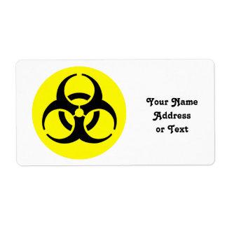 Símbolo del BioHazard Etiquetas De Envío