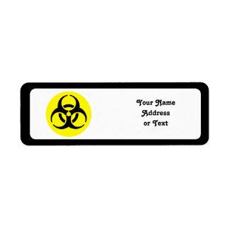 Símbolo del BioHazard Etiquetas De Remite