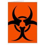 Símbolo del Biohazard Felicitación