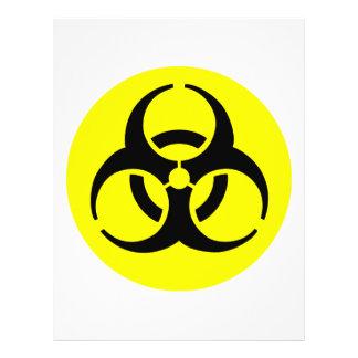 """Símbolo del BioHazard Folleto 8.5"""" X 11"""""""