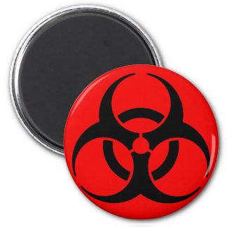 Símbolo del Biohazard Iman Para Frigorífico