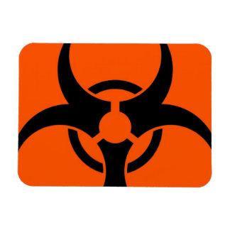 Símbolo del Biohazard Imán Foto Rectangular