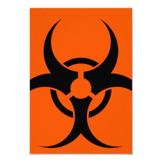 """Símbolo del Biohazard Invitación 3.5"""" X 5"""""""