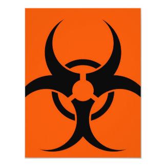 """Símbolo del Biohazard Invitación 4.25"""" X 5.5"""""""