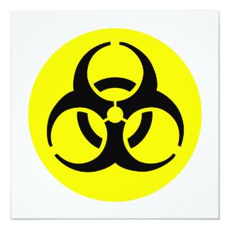 """Símbolo del BioHazard Invitación 5.25"""" X 5.25"""""""