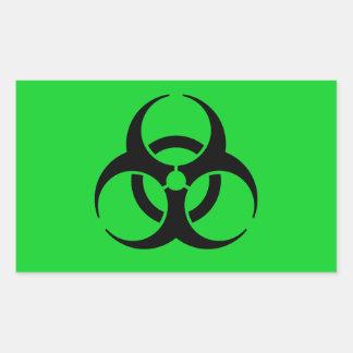 Símbolo del Biohazard Pegatina Rectangular