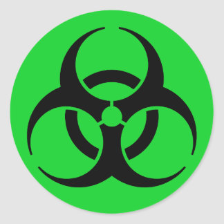 Símbolo del Biohazard Pegatina Redonda