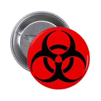 Símbolo del Biohazard Pin Redondo De 2 Pulgadas