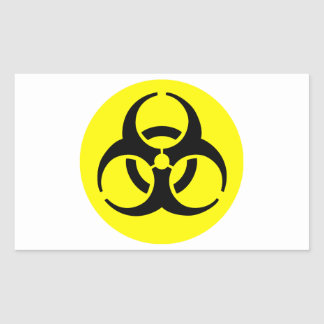 Símbolo del BioHazard Rectangular Pegatina