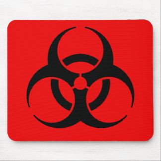 Símbolo del Biohazard Alfombrillas De Raton