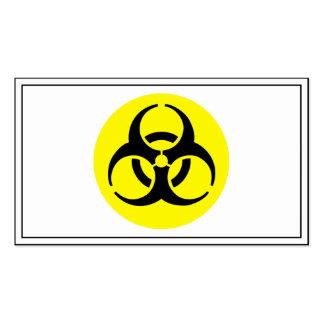 Símbolo del BioHazard Plantillas De Tarjetas Personales