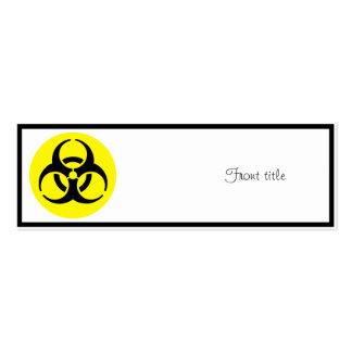Símbolo del BioHazard Plantilla De Tarjeta Personal