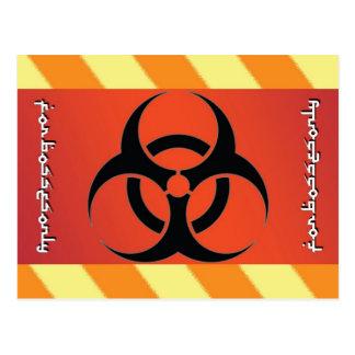 Símbolo del Biohazard Tarjeta Postal