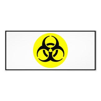 Símbolo del BioHazard Tarjetas Publicitarias A Todo Color