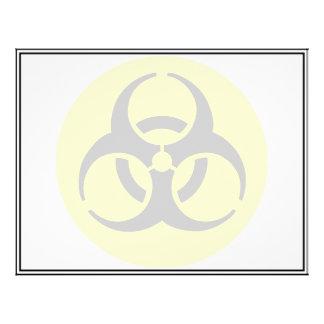 Símbolo del BioHazard Tarjeta Publicitaria