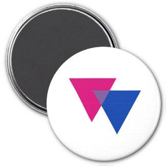 Símbolo del Bisexuality Imán Redondo 7 Cm
