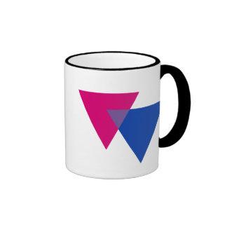 Símbolo del Bisexuality Taza De Dos Colores