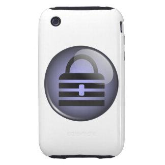 Símbolo del botón de Keypass iPhone 3 Tough Protectores
