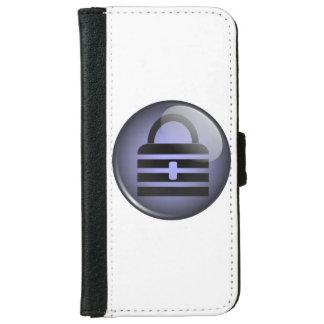 Símbolo del botón de Keypass Funda Cartera Para iPhone 6