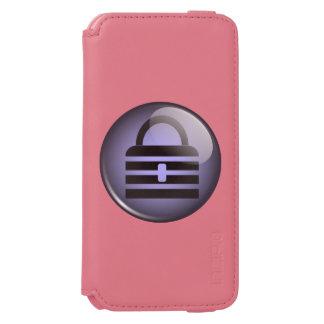 Símbolo del botón de Keypass Funda Cartera Para iPhone 6 Watson