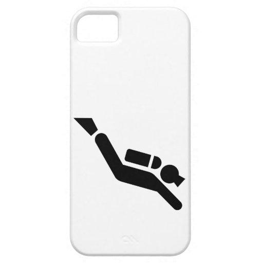Símbolo del buceo con escafandra iPhone 5 funda