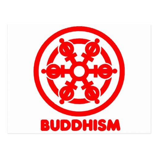 Símbolo del Buddhism Tarjetas Postales