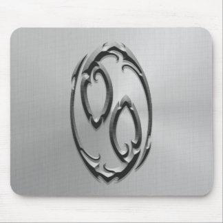 Símbolo del cáncer del acero inoxidable alfombrilla de ratones
