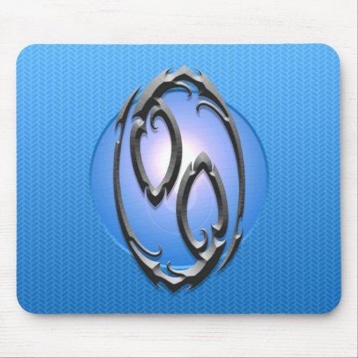 Símbolo del cáncer del hierro, azul alfombrilla de ratones