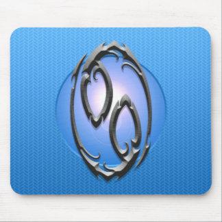 Símbolo del cáncer del hierro, azul alfombrilla de ratón