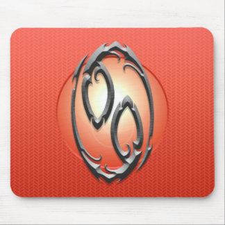 Símbolo del cáncer del hierro, rojo alfombrilla de raton