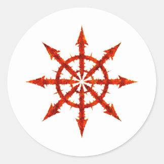 Símbolo del caos pegatinas redondas