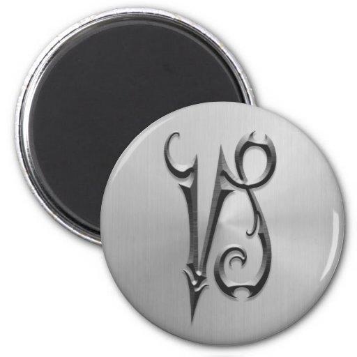 Símbolo del Capricornio del acero inoxidable Imanes Para Frigoríficos