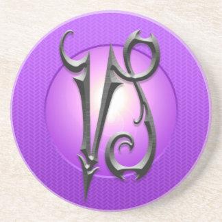 Símbolo del Capricornio del hierro, púrpura Posavasos Cerveza