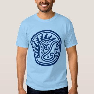 Símbolo del casco de la pluma del maya playera
