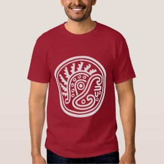 Símbolo del casco de la pluma del maya remera