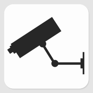 Símbolo del CCTV Pegatina Cuadrada