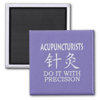 Símbolo del chino de la acupuntura imán cuadrado