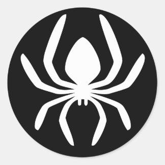 Símbolo del círculo de la araña pegatina redonda