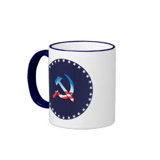 Símbolo del comunista de Obama Taza A Dos Colores
