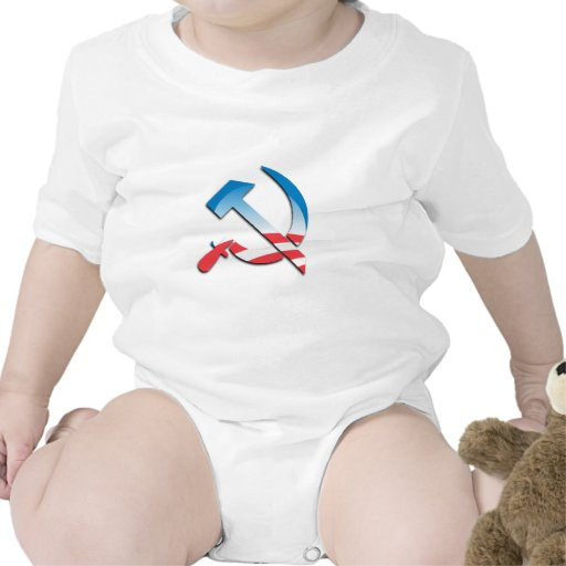 Símbolo del comunista de Obama Trajes De Bebé