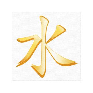 Símbolo del confucionismo impresiones en lona estiradas