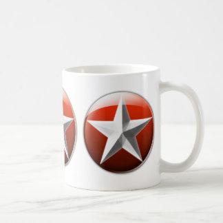 Símbolo del conquistador taza básica blanca