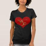 Símbolo del corazón del Capricornio Camisetas