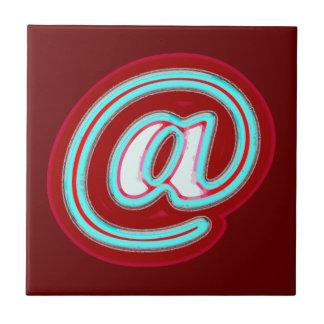 símbolo del correo electrónico azulejo cuadrado pequeño
