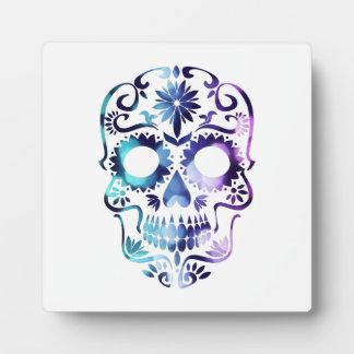 Símbolo del cráneo del horror placas con fotos
