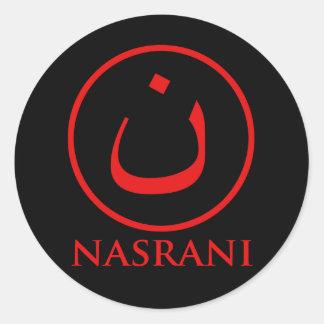 Símbolo del cristiano de Nasrani Pegatina Redonda