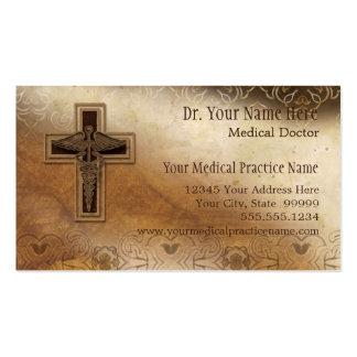 Símbolo del cristiano del médico práctica del médi tarjeta de negocio