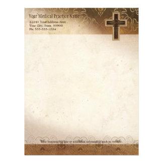 Símbolo del cristiano del médico práctica del médi plantillas de membrete