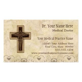 Símbolo del cristiano del médico práctica del tarjetas de visita
